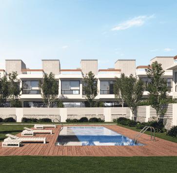 nuevas villas blancas chalets obra nueva el cañaveral madrid